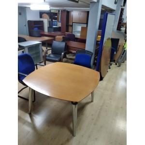 Mesa de reuniones nogal. - mobiliario de oficina nuevo y ...