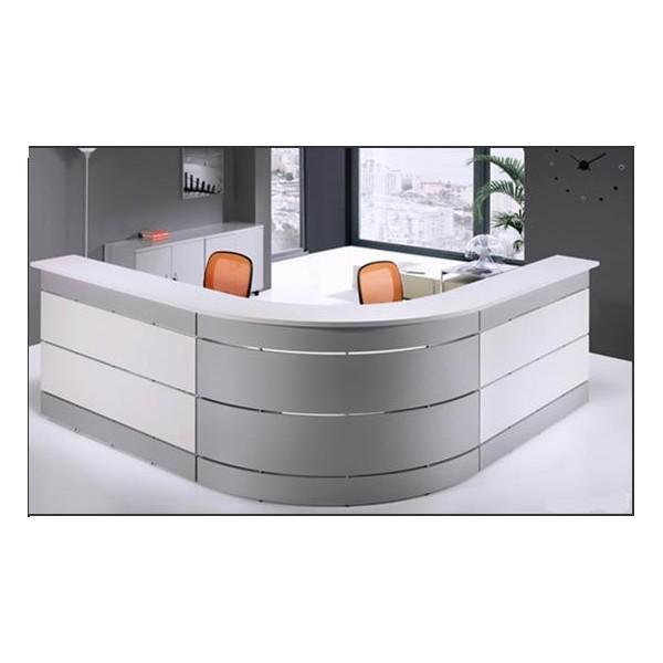Mostrador mod isla curvo madera mobiliario de oficina for Mostradores para oficina