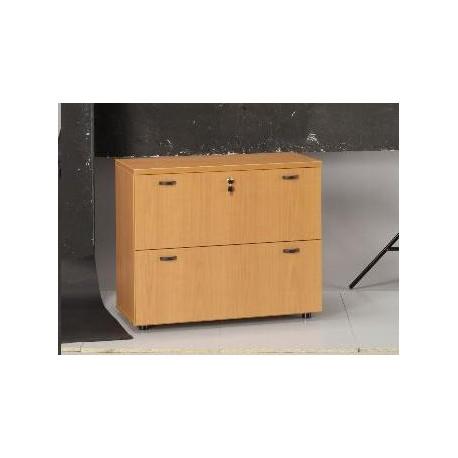 Armario archivador de melamina mobiliario de oficina for Archivadores metalicos segunda mano