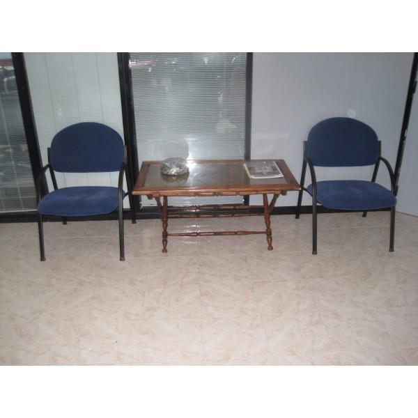 Sillas para sala de espera tapizados en azul mobiliario for Sillas sala de espera