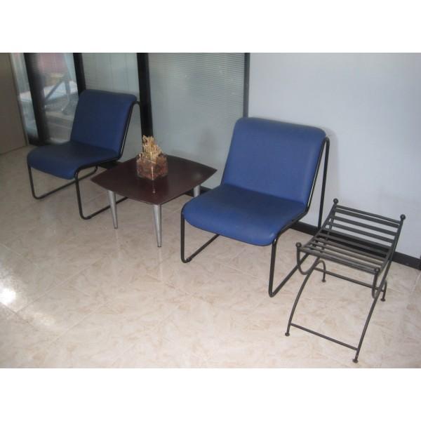 en polipiel azul mobiliario de oficina nuevo y usado en Madrid
